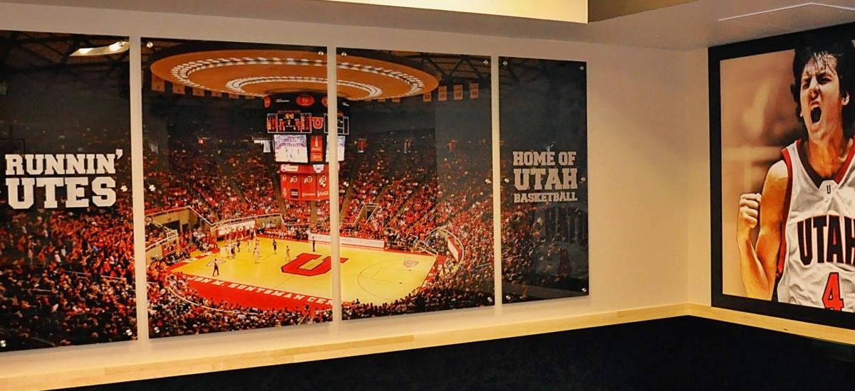 University of Utah Basketball Locker Room